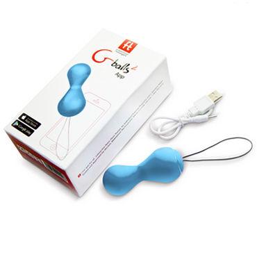 Fun Toys Gballs2 App, голубые Вагинальные шарики, управляемые с помощью смартфона