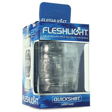 Fleshlight Quickshot Vantage, прозрачный Компактный сквозной мастурбатор