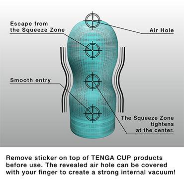 Tenga Original Vacuum Cup, Keith Haring Edition Мастурбатор, имитирующий оральные ласки, лимитированный выпуск