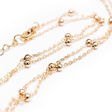 Dolce Piccante Golden Balls Колье на тело с золотыми бусинами