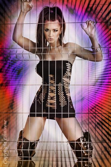 ChiliRose Мини платье с вырезами Без бретелей