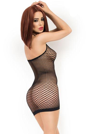 ChiliRose Откровенное мини-платье, черное В крупную сетку