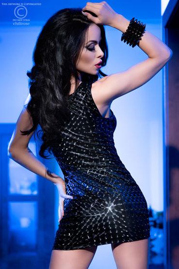 ChiliRose Мерцающее мини-платье, черное С глубоким декольте
