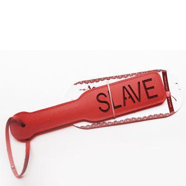 Пикантные штучки Шлепалка Slave С надписью
