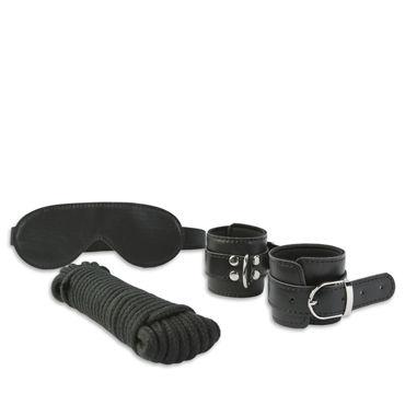 Пикантные штучки Набор для бондажа с веревкой Маска и манжеты