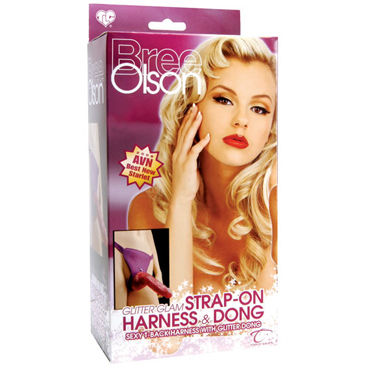 Topco Bree Olson Glitter Glam Strap-On Harness & Dong Гламурный страпон