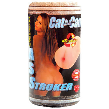 Topco Cat In A Can CyberSkin Ass Stroker Компактный мастурбатор