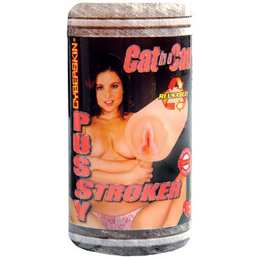 Topco Cat In A Can CyberSkin Pussy Stroker Компактный мастурбатор