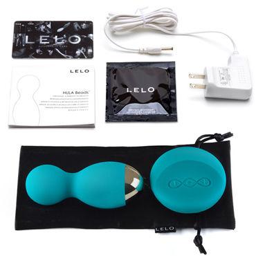 Lelo Hula Beads, голубые Вагинальные виброшарики c ротацией и дистанционным управлением