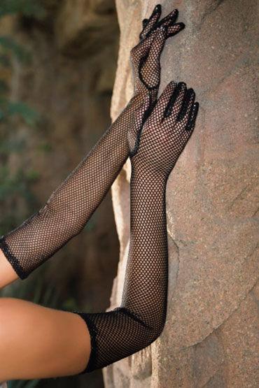 Leg Avenue перчатки Длинные, в сеточку