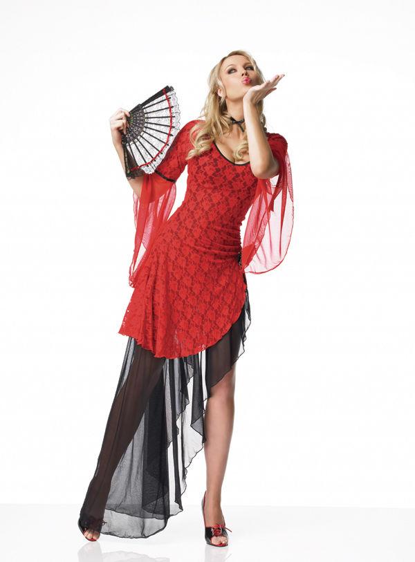 Leg Avenue танцовщица Костюм для фламенко