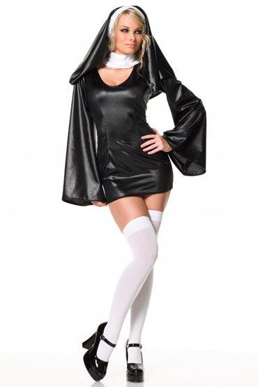 Leg Avenue Монашка Эротическое платье с расклешенными рукавами