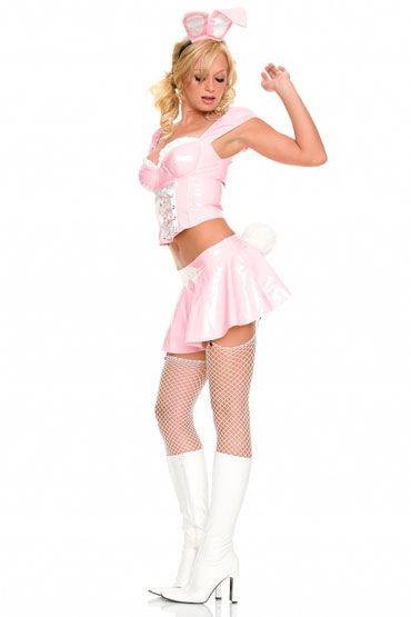 Leg Avenue Зайчик Розовый, с белым хвостиком