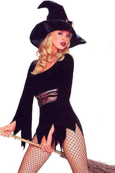 Leg Avenue Ведьмочка Черный, с головным убором