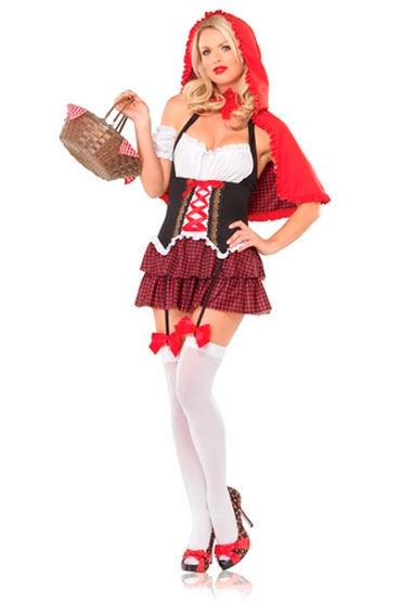 Leg Avenue Красная шапочка Платье с накидкой