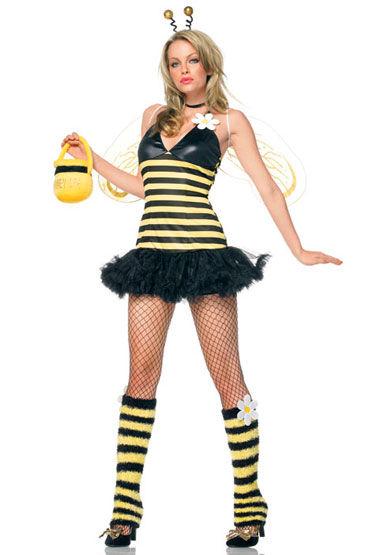 Leg Avenue Пчелка С крылышкам, рожками и чулочками
