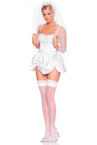 Leg Avenue Невеста Белое мини-платье