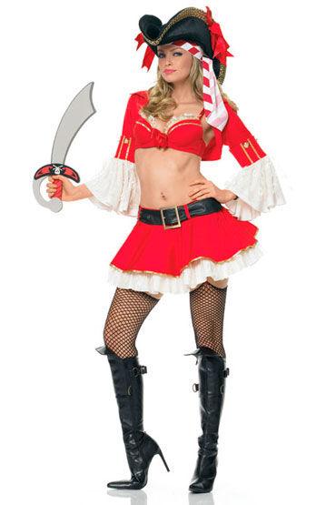 Leg Avenue Пират Красно-белый костюм