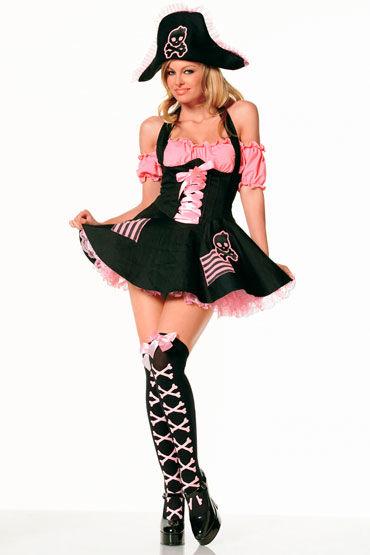 Leg Avenue Пират Черно-розовый наряд
