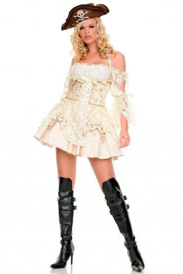Leg Avenue Пират Роскошное платье из парчи и кружева