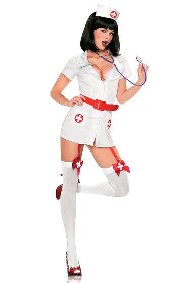 Leg Avenue Медсестра Сексуальный костюмчик с чулочками