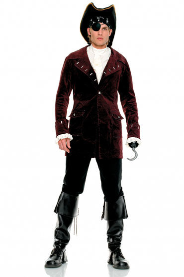Leg Avenue Пират, Шикарный мужской костюм - Размер S-M от condom-shop.ru