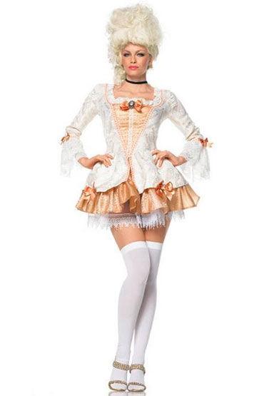 Leg Avenue Леди Мария Роскошное платье из парчи, украшенное камеей