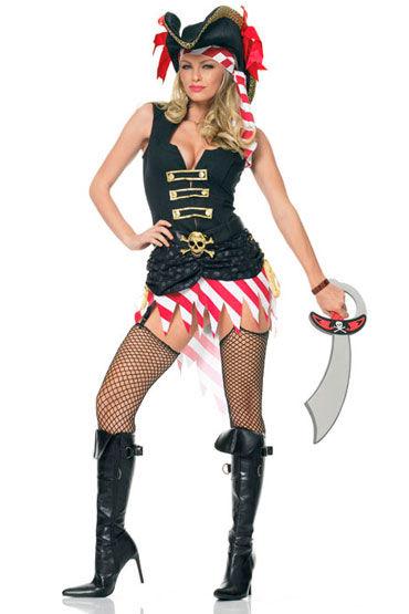 Leg Avenue Пират Платье с поясом и повязка на голову