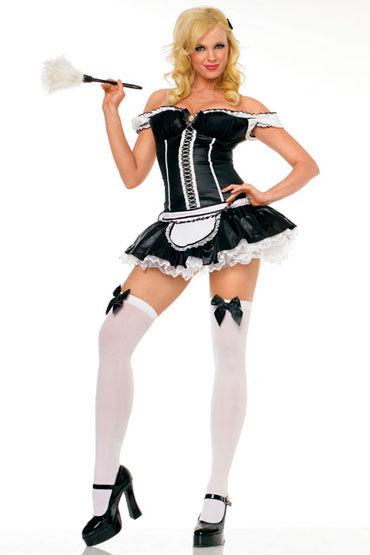 Leg Avenue Горничная Эротичное платье и щеточка для пыли