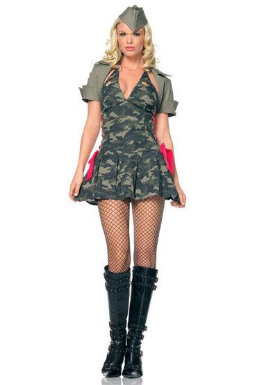 Leg Avenue Милый кадет Мини-платье с жакетом и головным убором