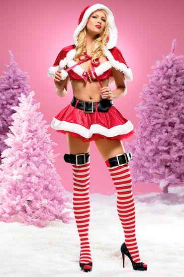 Leg Avenue Санта Клаус, Эротичный костюм из красного бархата - Размер M