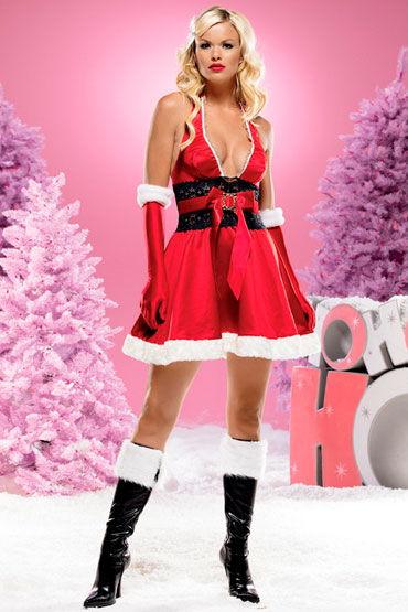 Leg Avenue Новогоднее платье Роскошное атласное платье