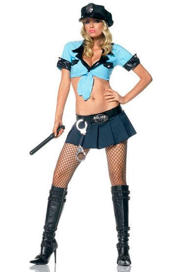 Leg Avenue Офицер полиции Соблазнительный костюм с аксессуарами