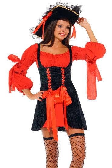 Leg Avenue Пират Красное платье с корсетом