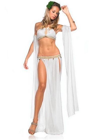 Leg Avenue Богиня любви Невероятно красивый костюм белого цвета