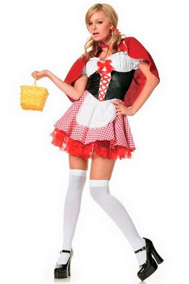 Leg Avenue Красная шапочка Мини-платье с накидкой