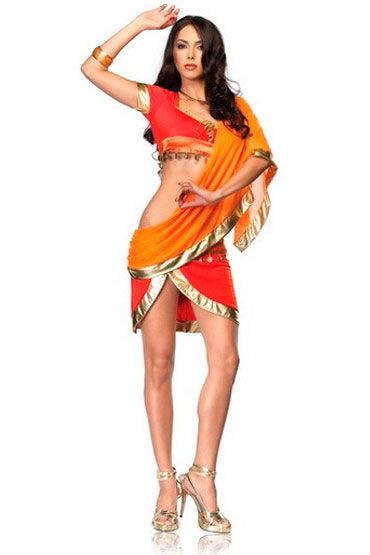 Leg Avenue Bollywood Beauty Оранжевый, с шифоновой накидкой