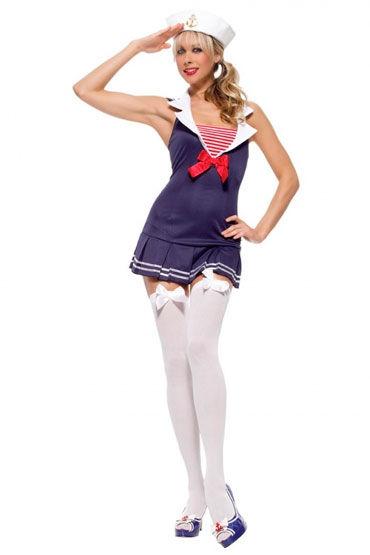 Leg Avenue Морячка Мини-платье с воротничком и шапочка