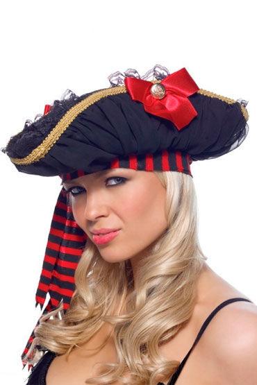 Leg Avenue пиратская шляпа С кружевом и атласным бантом