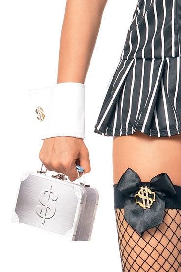 Leg Avenue гангстерская сумочка Украшена знаком доллара