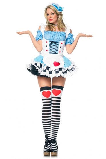 Leg Avenue Алиса в Стране чудес Платье с фартучком и кружевная повязка