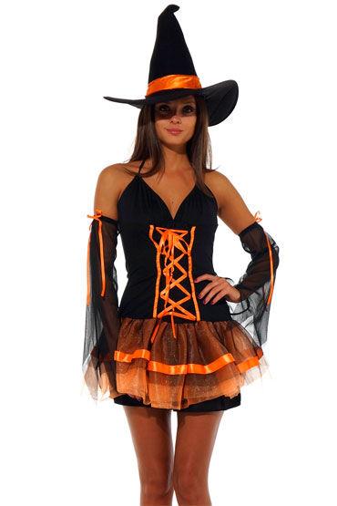 Leg Avenue Ведьмочка С прозрачными рукавами и шляпой