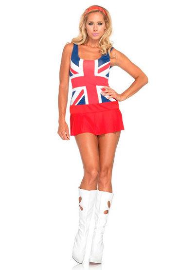 Leg Avenue Английская девочка С британской символикой