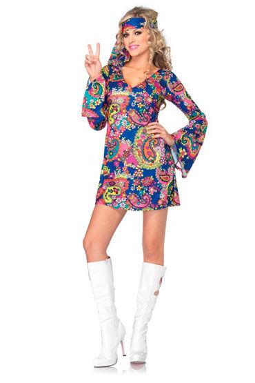 Leg Avenue Хиппи Мини-платье с повязкой на голову