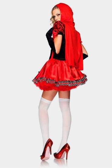 Leg Avenue Красная шапочка С корсетным плетением и капюшоном