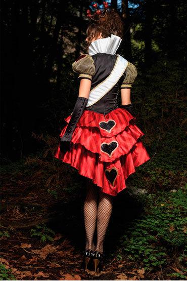 Leg Avenue Красная королева С атласной лентой и позолоченной короной