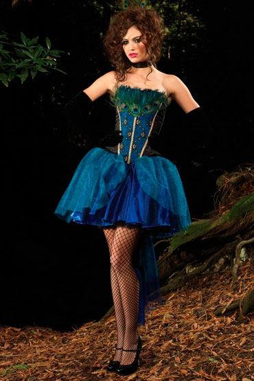 Leg Avenue Принцесса-Павлин Декорировано настоящими перьями