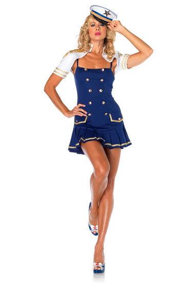 Leg Avenue Капитанша Мини-платье и болеро с погонами