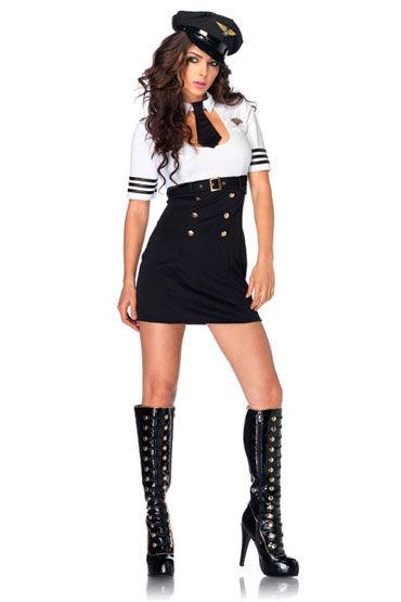 Leg Avenue Капитан Мини-платье с галстуком