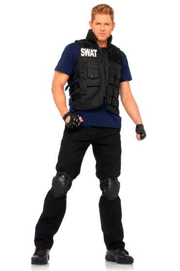 Leg Avenue Командир SWAT C перчатками и наколенниками